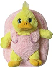 Kreative Kids Girls Yellow Duck Plush Backpack