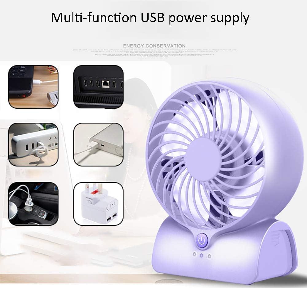 3-Speed Silent Personal USB Power Supply Fan Ultra-Quiet Design Mini Fan for Office