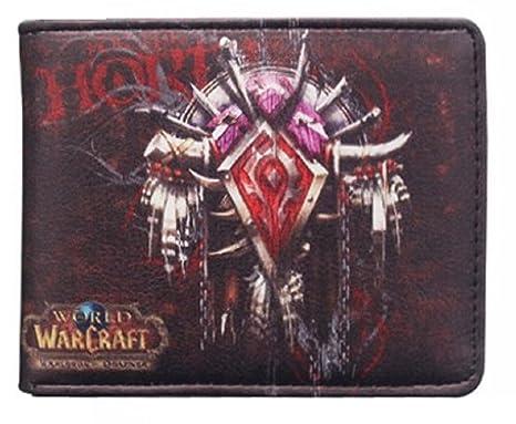 Cartera Billetera de Horda World of Warcraft Negro