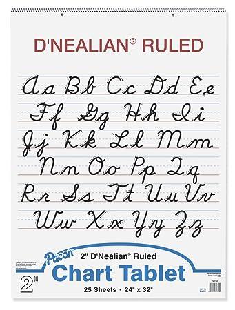 Amazon.com : D'Nealian Chart Tablet, 24