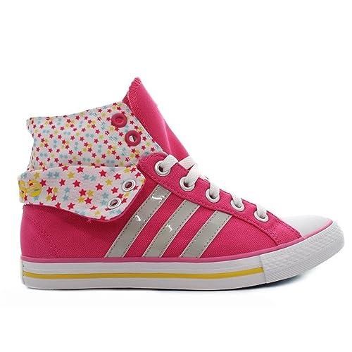adidas Zapatillas Altas niña Bbneo Stripes CV Mid K: Amazon.es: Zapatos y complementos