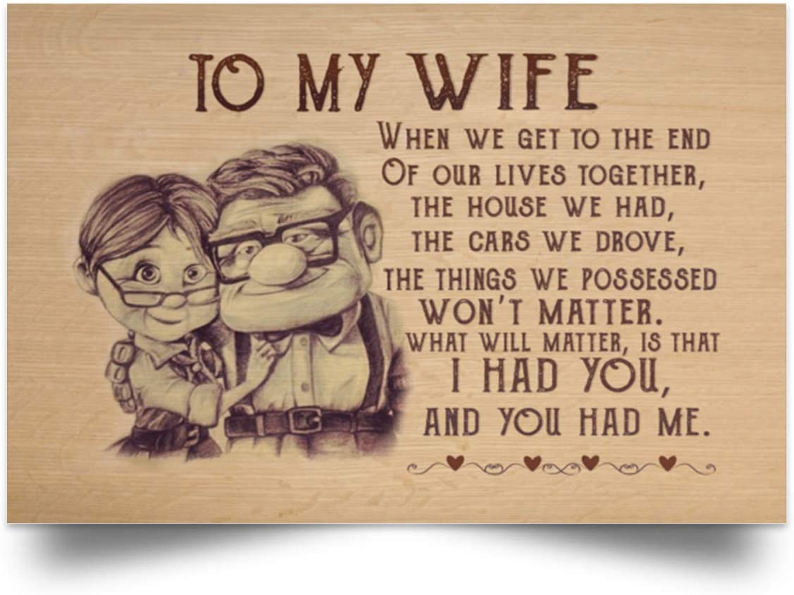 Carl And Ellie You /& Me We Got This Satin Landscape Poster