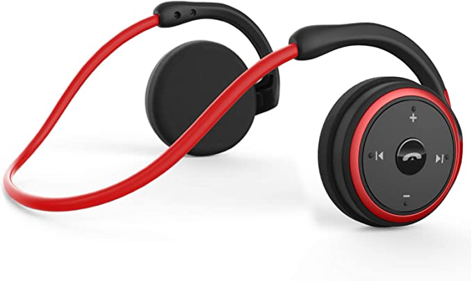 KAMTRON Auriculares inalámbricos Bluetooth Deportivos- Marathon2 Auriculares Inalámbricos Con Tecnología de Captura de Voz Clara, Micrófono de Cancelación de Eco, para Gimnasio, Deportivos (Rojo): Amazon.es: Electrónica