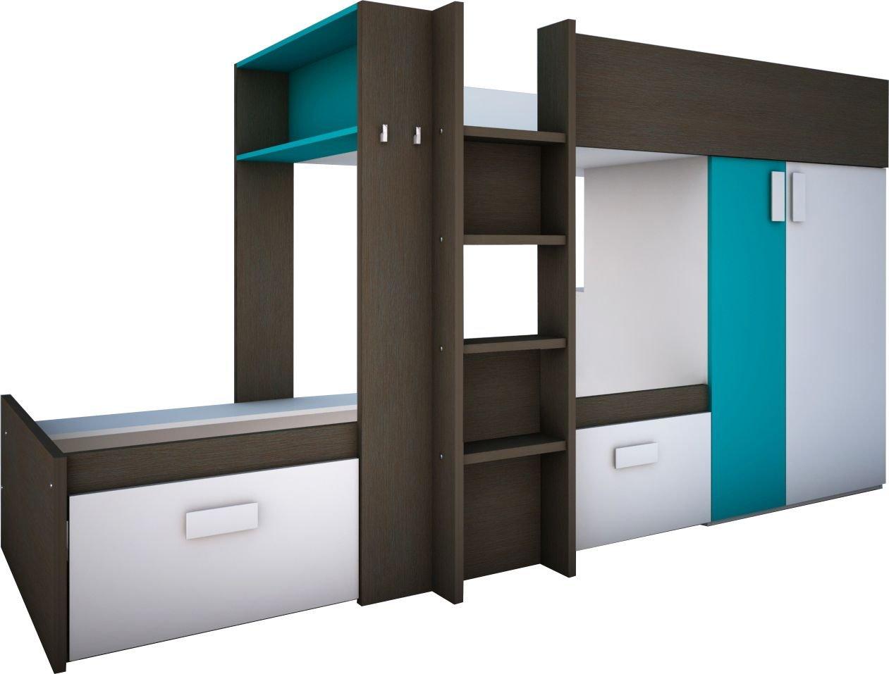 Etagenbett Empfehlung : Trasman 6862 etagenbett melaminharzbeschichtete holzspanplatten