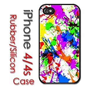 iPhone 6 plus 5.5 for kids Rubber Silicone Case - Paint Splatter Design artistic Art canvas