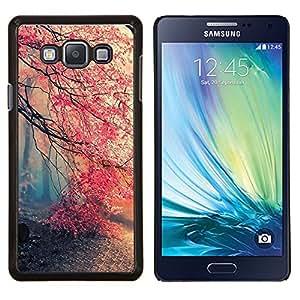 "Be-Star Único Patrón Plástico Duro Fundas Cover Cubre Hard Case Cover Para Samsung Galaxy A7 / SM-A700 ( Árbol Primavera niebla Bosque Pink Cherry Blossom"" )"