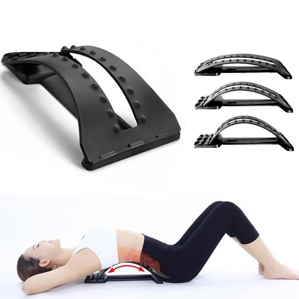 Wenbest Portable Magic Home Traitement arrière Châssis inférieur de dos de Correcteur de posture lombaire Massage outils de prise en charge Noir