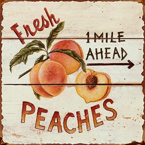 Barnyard Wall - Barnyard Designs Fresh Peaches Retro Vintage Tin Bar Sign Country Home Decor 11