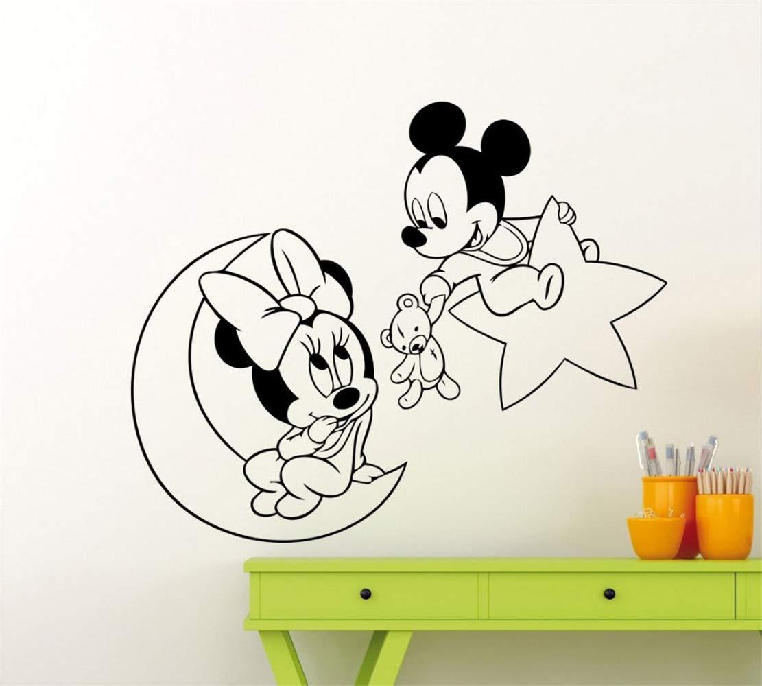 pegatina de pared frases Mickey Mouse Etiqueta de la pared Decal ...