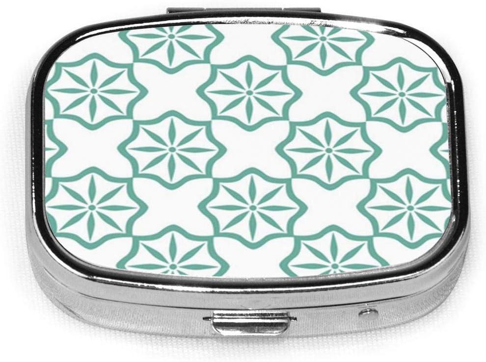 Resumen marroquí de patrones sin fisuras en el fondo de vector de estilo Azulejo cuadrado Pastillero Cajas decorativas Pastillero Pestaña Medicina