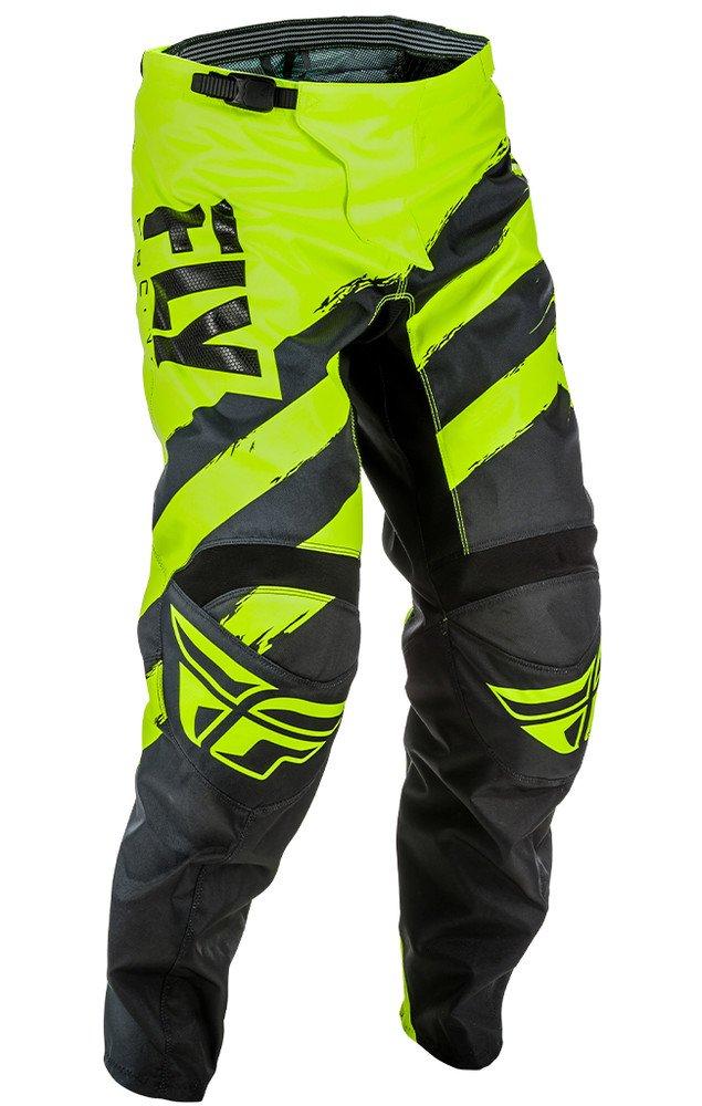 Fly Racing Men's Pants(Black/Hi-Vis, Size 28S),1 Pack
