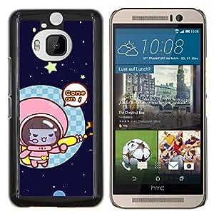 LECELL--Funda protectora / Cubierta / Piel For HTC One M9Plus M9+ M9 Plus -- Divertido gatito lindo del gato del espacio --