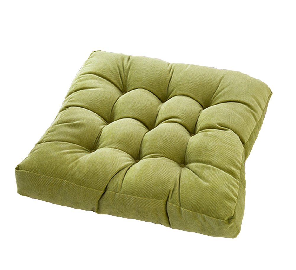 JINGXIN Square Corduroy Floor Pillow Chair Cushion Tatami Style Futon Pad Window Pad Yoga Mat 22x22-inches,Green