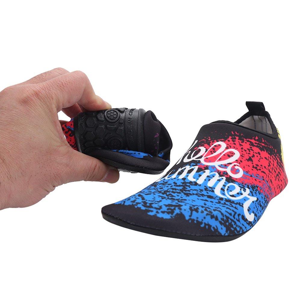 Leezo Womens and Mens Summer Barefoot Skin Water Shoes Aqua Socks