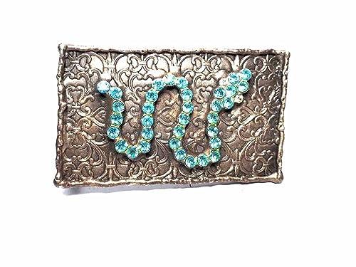 carino economico nuovo stile alta qualità Fibbia per Cintura 4 CM, Serpente Azzurro, Colore Argento ...