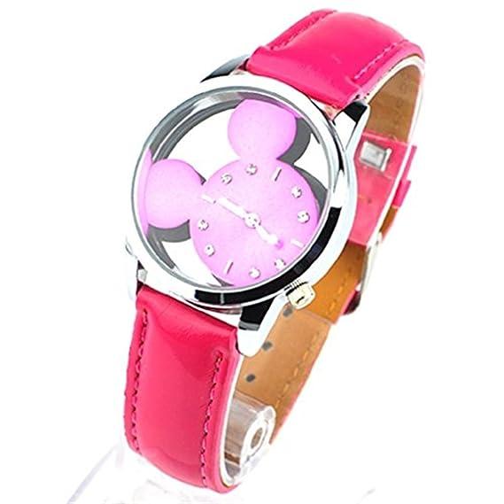 El paraíso secreto de las niñas Mickey Mouse relojes baratos de las mujeres de regalo