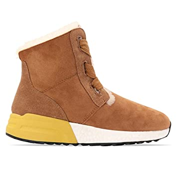 55c27df33338 Chaussures Femme Bottines Mode en Velours Chaussures de Marche Bottes Neige  légères Velours Chauds Ralenti Chantiers