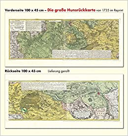 Hunsrück Hochwald Karte.Das Alte Hunsrück Große Hunsrückkarte 1735 Plano Amazon De Erben