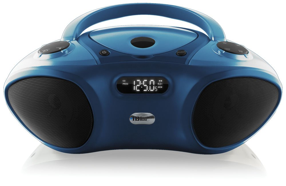 HamiltonBuhl HECHB100BT Hamilton Boom Box with Bluetooth Receiver, CD/FM Media Player by HamiltonBuhl