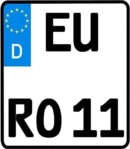 Utal 1 X Motorrad Kennzeichen 180 Mm X 200 Mm Nummernschild 180 X 200 Auto
