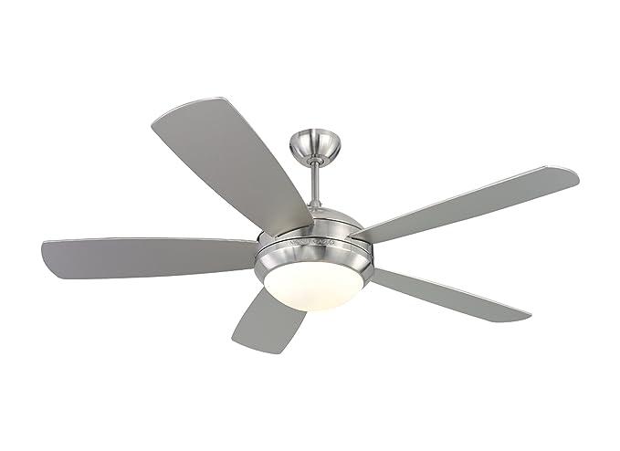 Monte carlo 5di52bsd l discus 52 ceiling fan brushed steel monte carlo 5di52bsd l discus 52quot ceiling fan brushed steel aloadofball Images