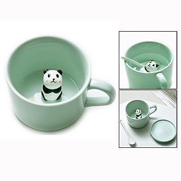 Itian Tazas de cerámica - para por la mañana beber, y bodas, cumpleaños, día del padre, cerámica, 230ml