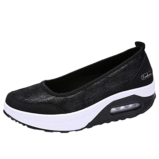 fe27c90a581a8 Aurorax-Shoes Clearance Sale Women's Girls Casual Lightweight Shake Sports  Wedges Sneakers