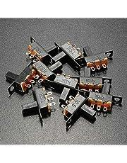 Ils - 10Uds Interruptores Deslizantes SPDT de Mini Talla Negros Encendido-Apagado 100V 2A Material de DIY