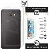 TheGiftKart Combo of Soft Clear Back Cover (Transparent) + HD Tempered Glass for Samsung C7 Pro