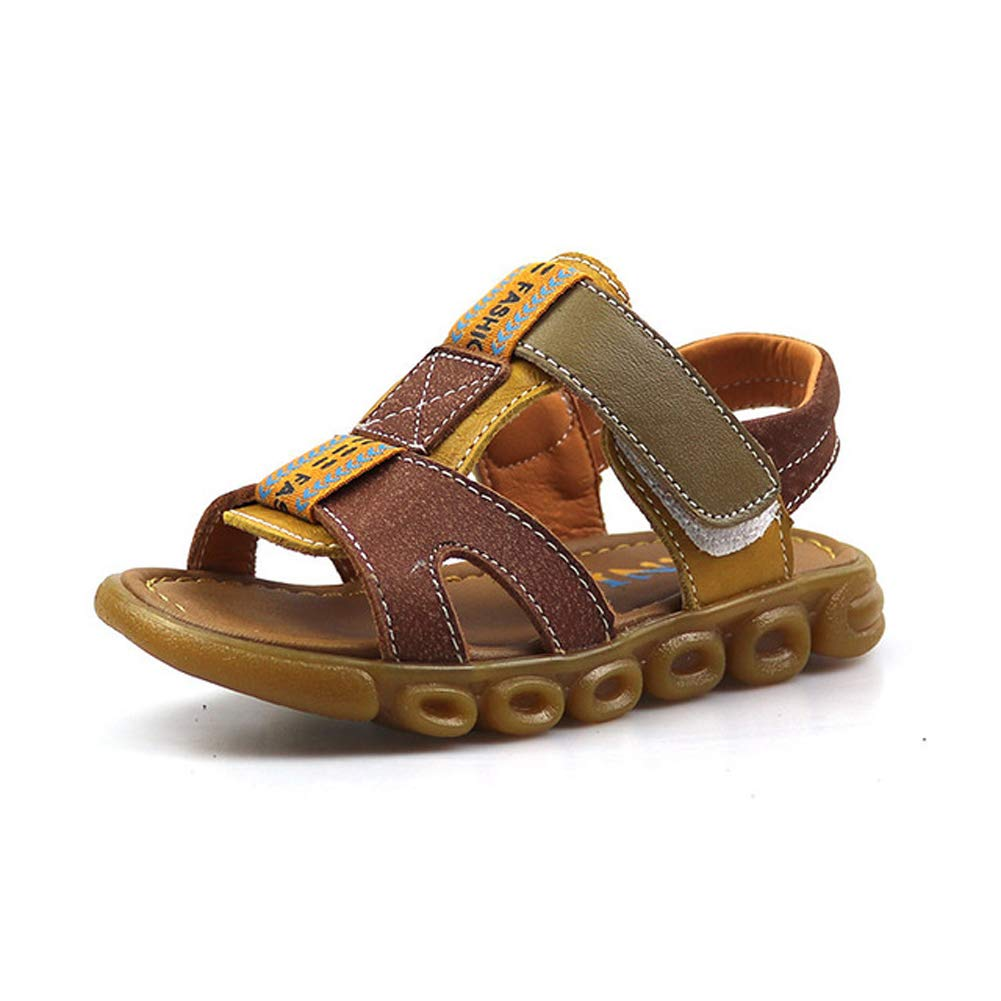 Tuoup Kids Toddler Walking Leather Sandals for Boys Sandles
