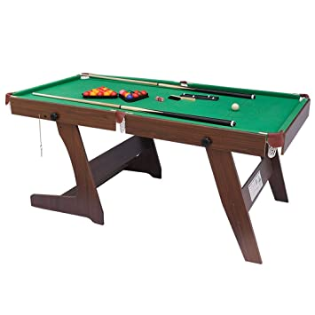 Shiny Trading 6FT Folding Snooker Table Pool Table, Green