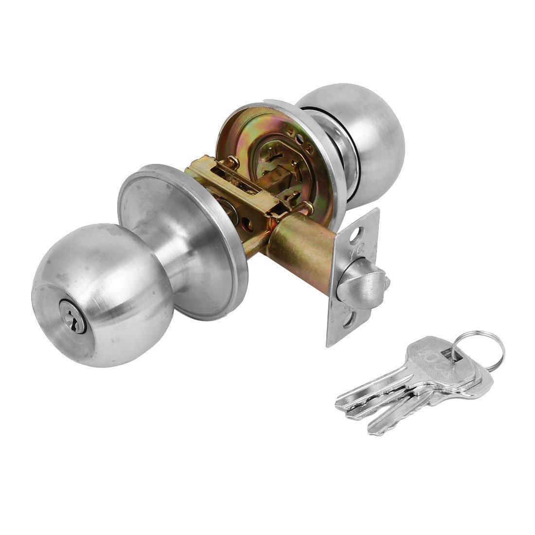 sourcingmap Inicio Bañ o de privacidad metal perilla redonda Tirador Cerradura Cerradura w Teclas SYNCTEA029672