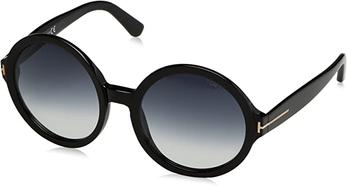 Tom Ford Round Sunglasses TF369 Juliet 01B Black//Gold FT0369