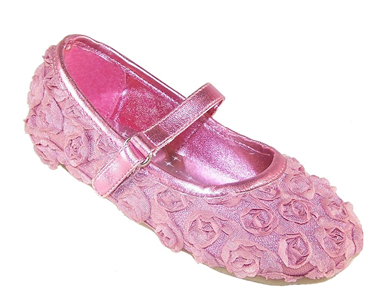 The Sparkle Club Girls Infants Pink Party Flower Girl and speci Occasion Ballerina Shoes
