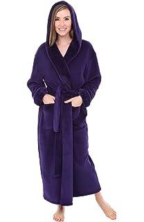 5e501e5b43 Alexander Del Rossa Womens Solid Color Fleece Robe