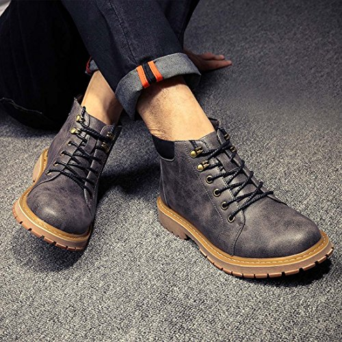 Grigio A grey Wenjhen 40 Pantofole Uomo Stivaletto T1xIwa8q