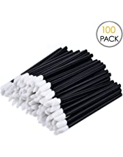 KINGMAS 100x Disposable MakeUp Lip Brush Lipstick Gloss Wands Applicator Perfect Make Up Tool
