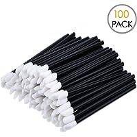 KINGMAS 100x Disposable MakeUp Lip Brush Lipstick Gloss Wands Applicator Perfect Make Up Tool