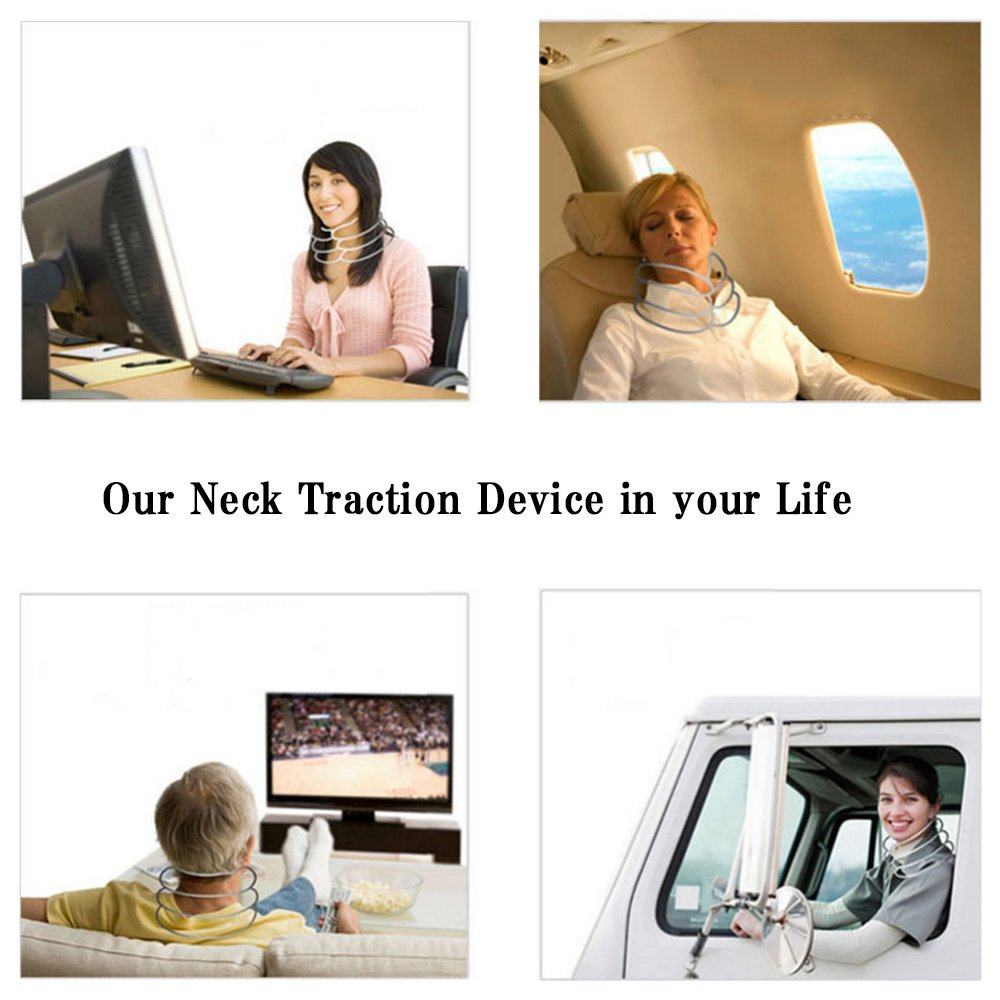 JAPAN SOLUTIONS Cervical Traction Neck Devices, Inflatable Neck Traction Pillow with Air...