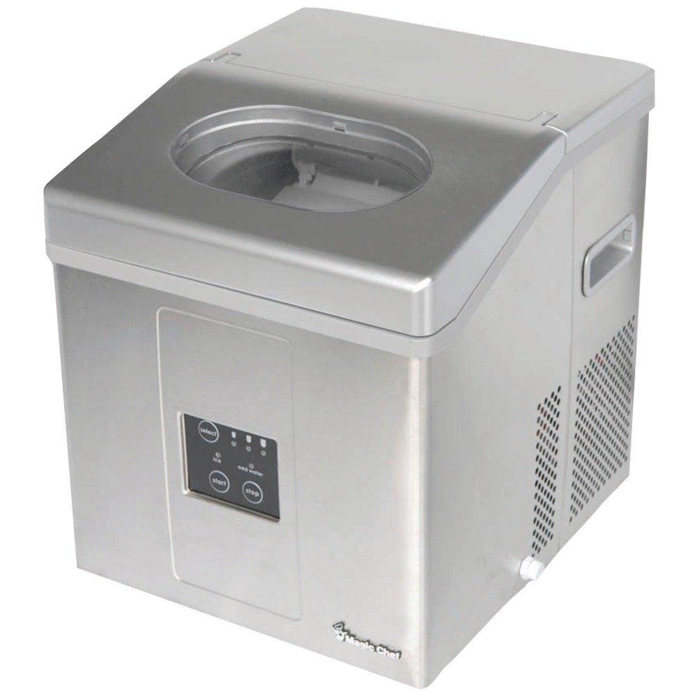 """19"""" W 30 lb. Portable Ice Maker in Silver"""