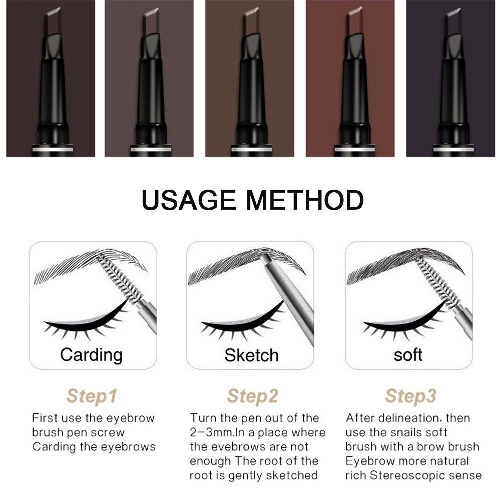 Amazon 5pcs Eyebrow Pencil Waterproof Drawing Eye Brow Duo