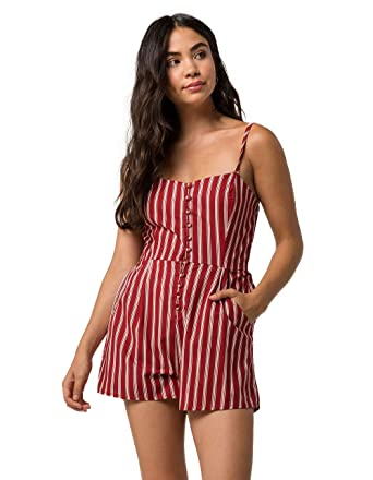 001d2bf4545 Amazon.com  Full Tilt Stripe Button Front Romper