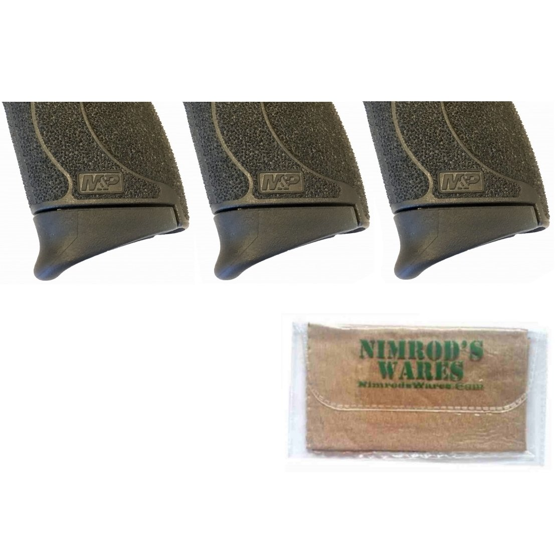 Nimrod's Wares 3-Pack Pearce Grip S&W M&P Shield 45 .45ACP Extension PG-MPS45 Microfiber Cloth by Nimrod's Wares
