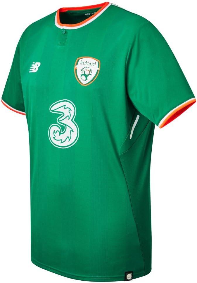 New Balance Offical FAI Merchandise Ireland Home 2017/2018 - Camiseta de Manga Corta Hombre: Amazon.es: Ropa y accesorios