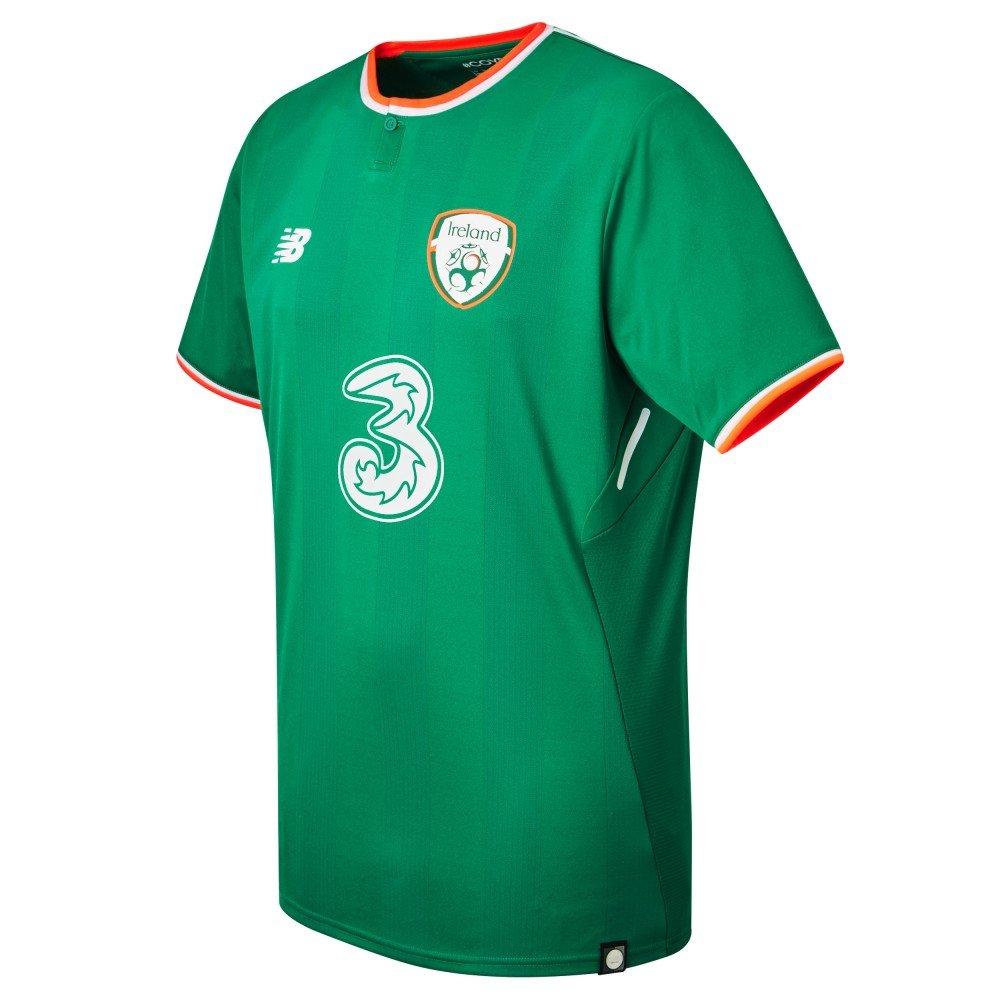 4556503ebcf6a New Balance Men's Offical Fai Merchandise Ireland Home 2017/2018 Short  Sleeve Jersey