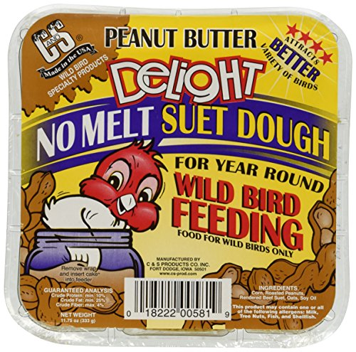 C & S Products Peanut Butter Delight, 12-Piece (Peanut Butter Bird Food)