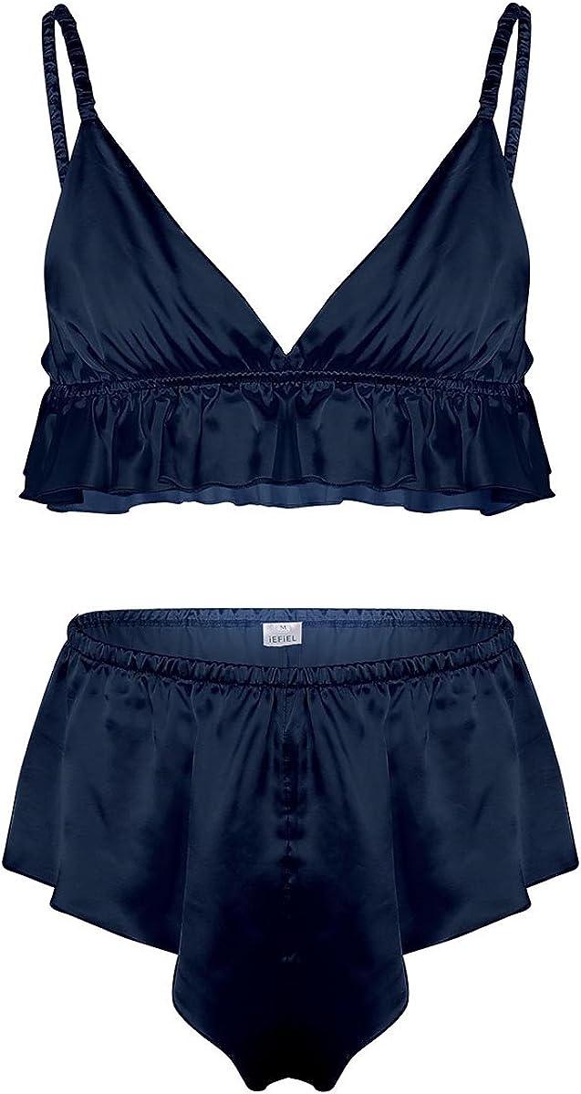 iixpin Homme Sissy Lingerie de Nuit Slip de Bain Culotte Triangle Soutien-Gorge Plaisir Bra sous-v/êtement Thong Taille Basse Bikini Underwear Brief /Ét/é M-XXL