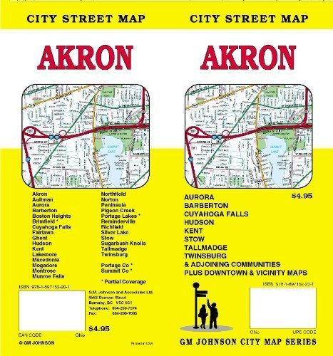 Akron City Street Map by GM Johnson & Associates Ltd. - Mall Akron
