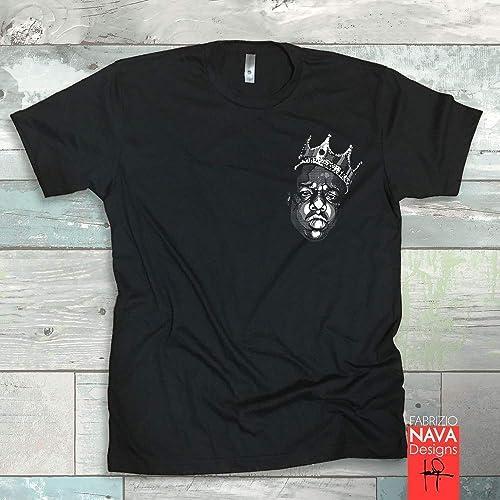 cf96c716b Amazon.com: Biggie Graphic Pocket Men's T-shirt Notorious BIG Rap ...