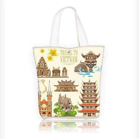 45c0562eb6e9 Amazon.com: Canvas Shoulder Hand Bag vietnam traditional vietnamese ...